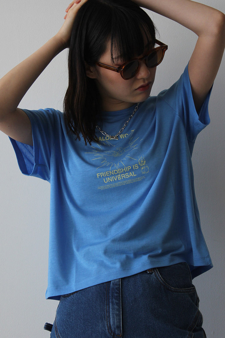 SOUVENIR CORAZON T-SHIRT / SOFT BLUE
