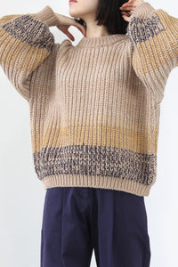 OMBRE SWEATER / FLAX [30%OFF]