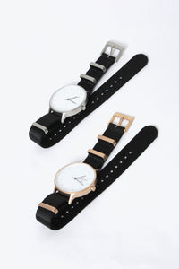 NATO STRAP / BLACK/ROSE GOLD