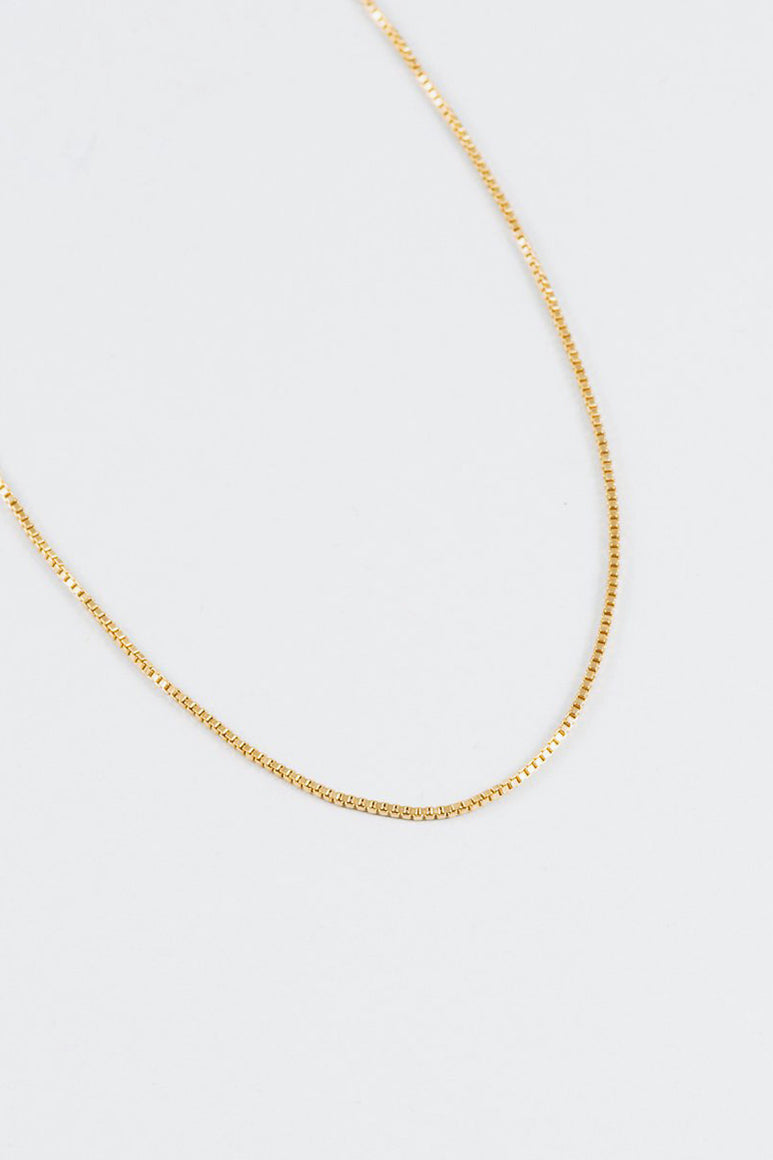 CLEA CHAIN NECKLACE / 14K GOLD FILLED