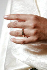 NORA RING / 14K GOLD PLATED BRONZE