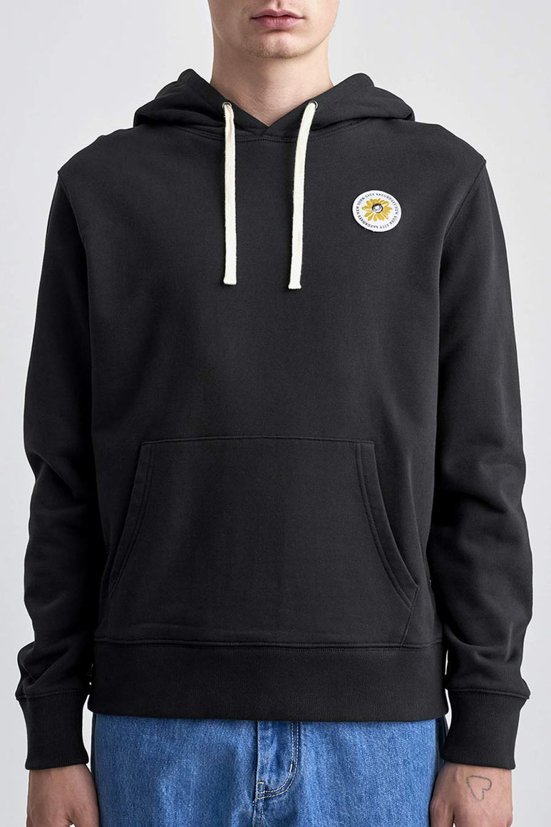 DITCH DAISY PATCH HOODIE / BLACK [30%OFF]