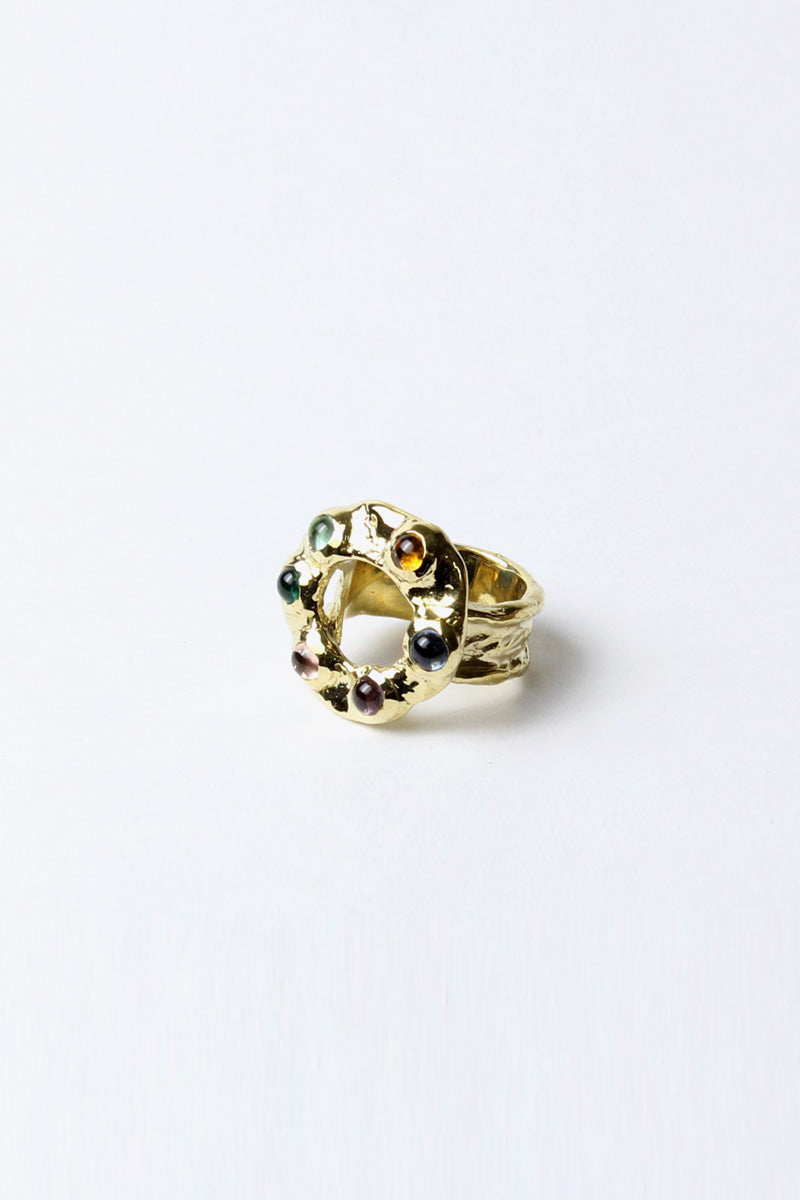 HALO RING W/GLASS / MULTI [30%OFF]