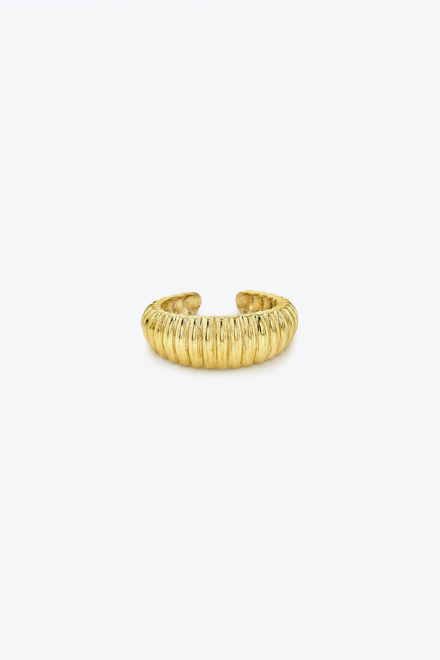 LATTICE EAR CUFF / YELLOW GOLD PLATE