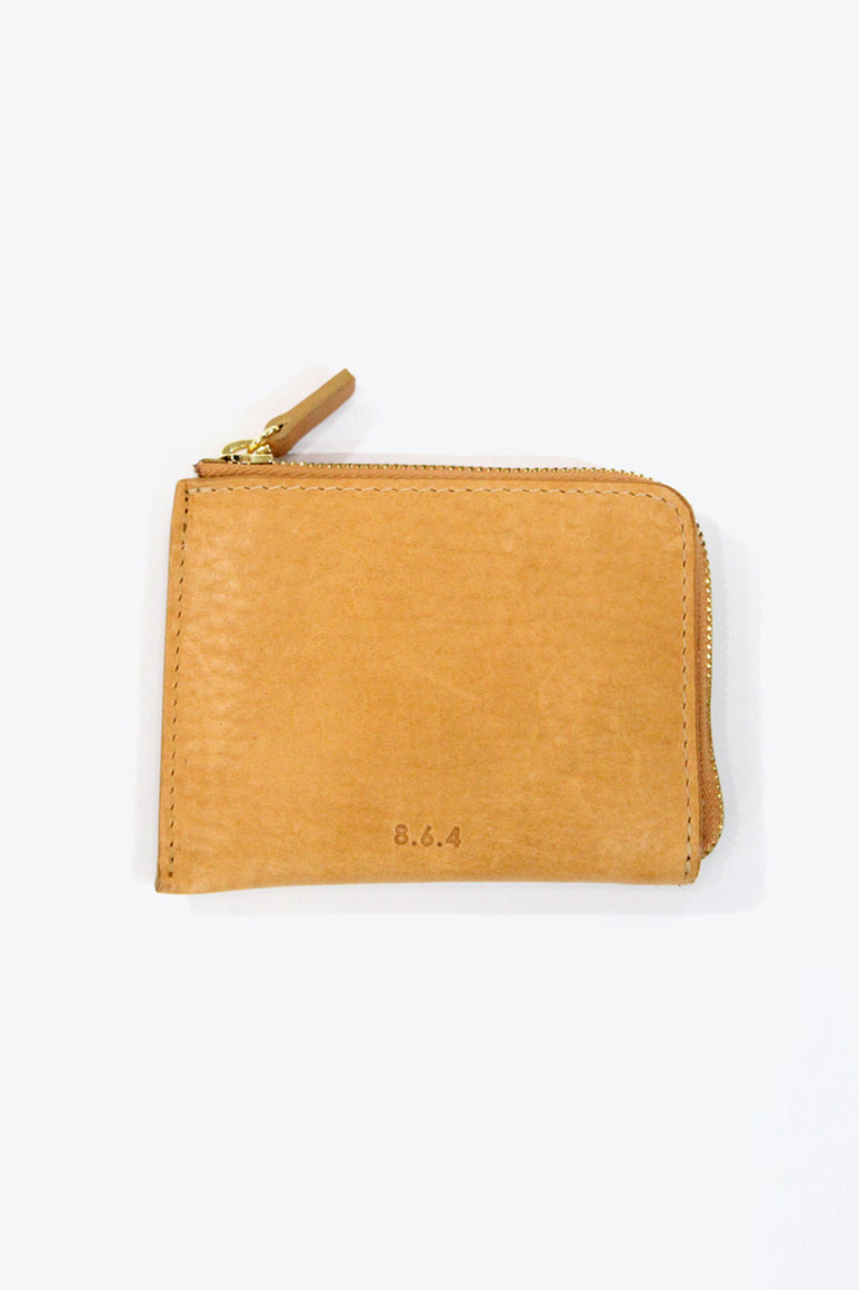 LEATHER ZIP WALLET / TAN