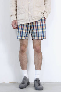 TEAL MADRAS SHORTS / TEAL [40%OFF]