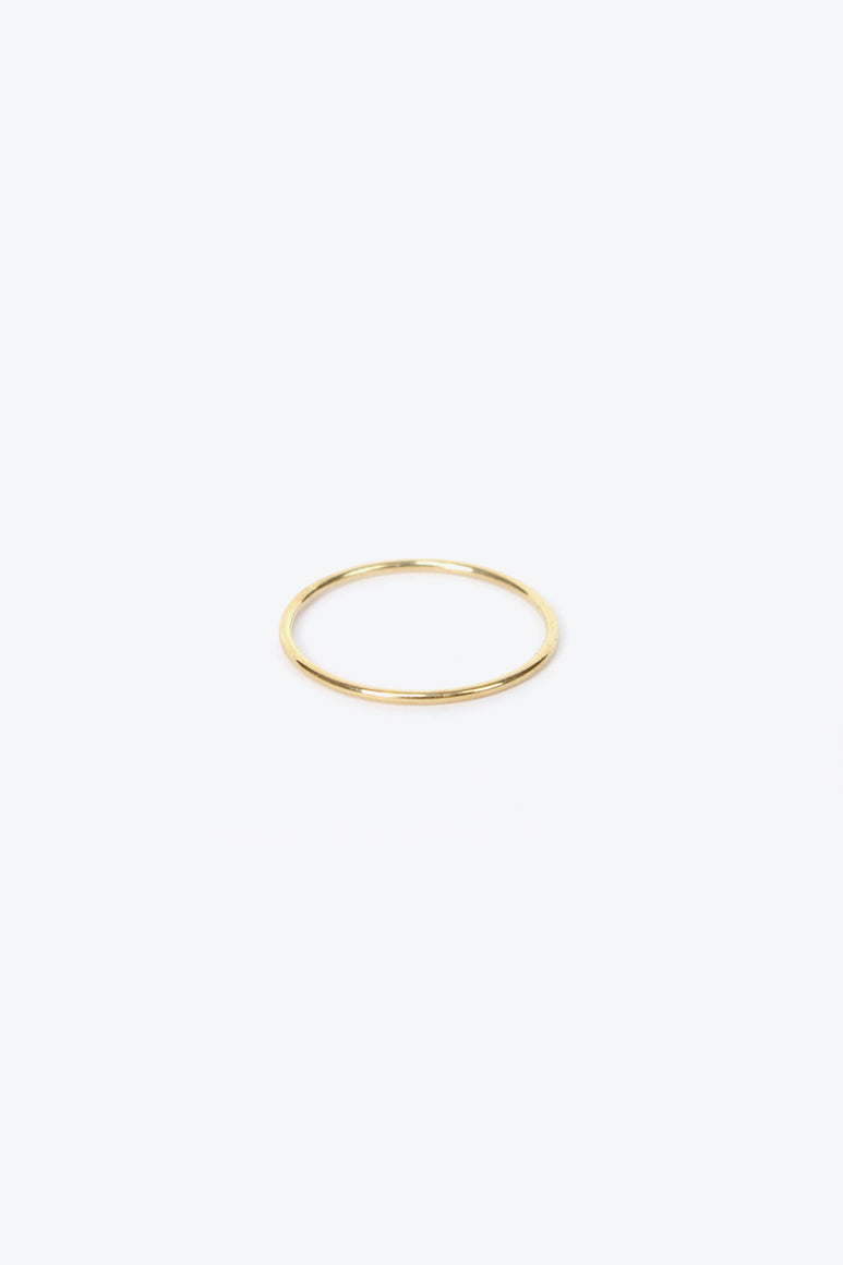 SUBTLE BAND RING US5.5 / 14K YELLOW GOLD