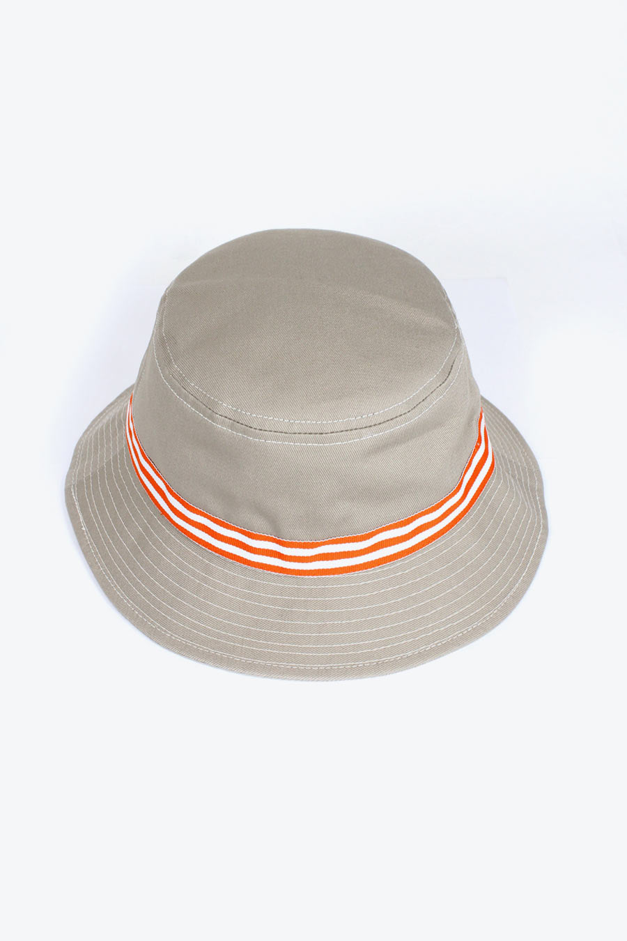 KHAKI ORANGE BANDED BUCKET / KHAKI [50%OFF]