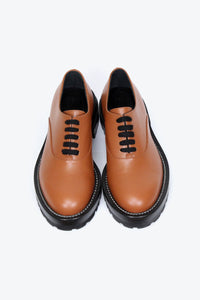 LACE UP SHOE / BROWN [20%OFF]