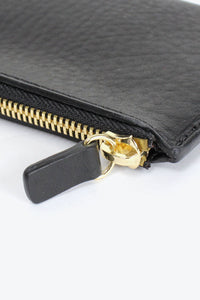 LEATHER ZIP WALLET LONG / BLACK