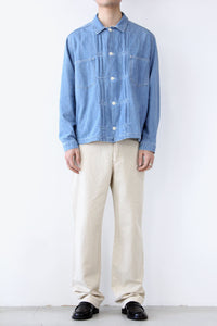 KIT SHIRT / INDIGO BLEACH [20%OFF]
