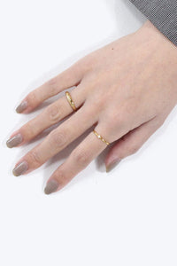 EMEILE RING / 14K GOLD PLATED BRONZE