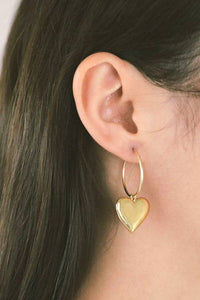 AMOURETTE HOOPS / 14K GOLD PLATED