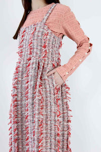 MENINA DRESS TWEEDY TWEED / CHERRY MULTI
