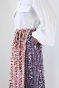 JETTY WRAP SKIRT TWEEDY TWEED / MULTI [30%OFF]
