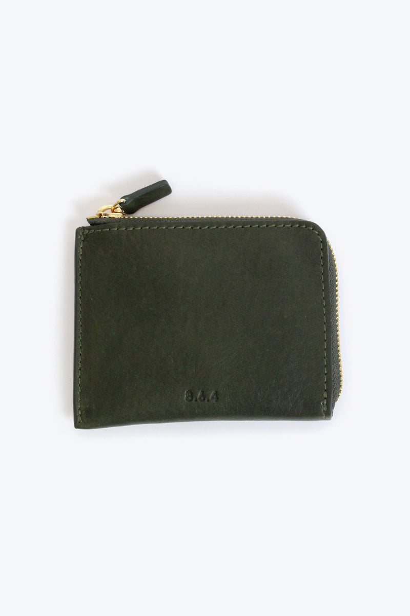 LEATHER ZIP WALLET / MILITALY GREEN