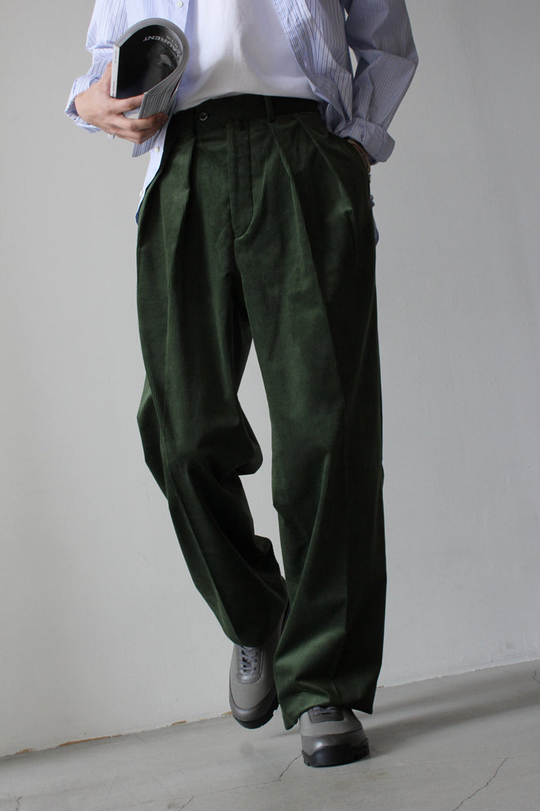 FRENCH CORDUROY WIDE / GREEN