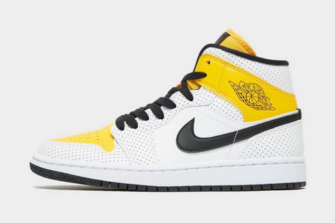 Nike Air Jordan 1 Mid White Black University Gold