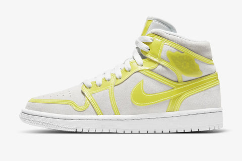 Nike Air Jordan 1 Mid XL Off White Opti Yellow