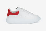 Alexander McQueen Sneakers White Red Suede