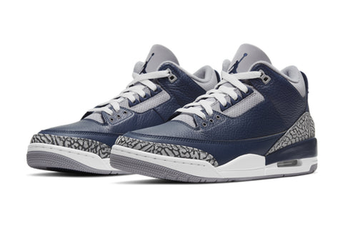 Nike Air Jordan 3 Georgetown Midnight Navy White Cement GS