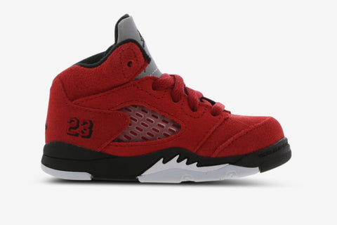 Nike Air Jordan 5 Retro Baby Shoes Raging Bull Red Black White
