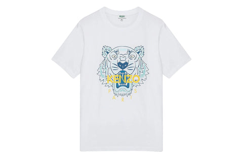 Kenzo Classic Tiger T-Shirt White Blue Tiger