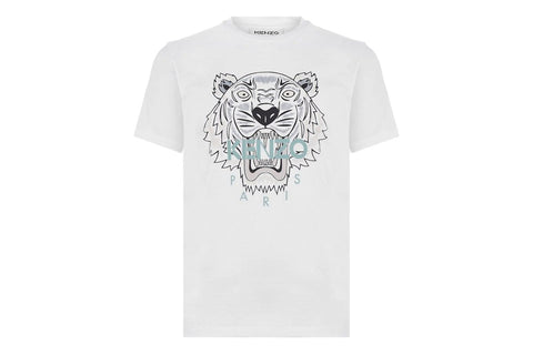 Kenzo Classic Tiger T-Shirt White Black Tiger