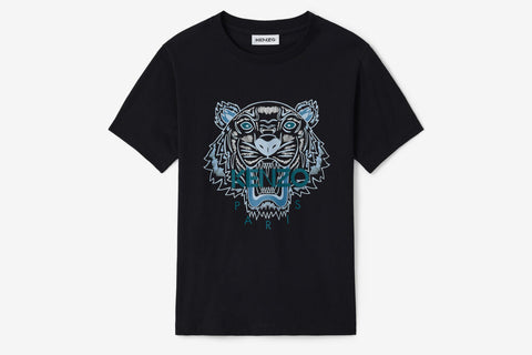 Kenzo Classic Tiger T-Shirt Black Blue Tiger
