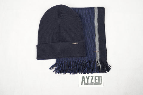Hugo BOSS Hat And Scarf Set - Navy/Black