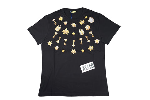 Versace Jeans T-Shirt Golden Key Black