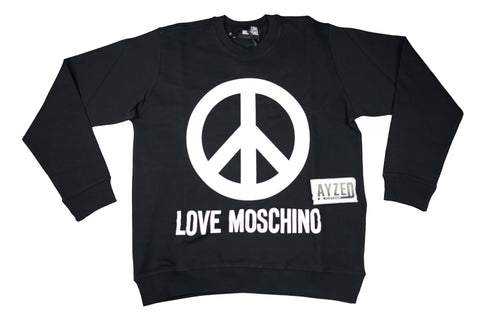 Moschino Big Logo Sweatshirt Black And White