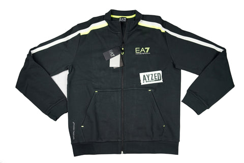 Emporio Armani EA7 Black And Green Track Top