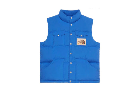 Gucci x The North Face Down Gille Vest Blue