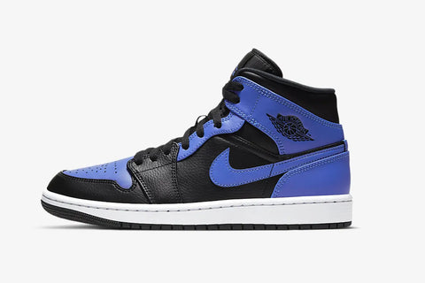 Nike Air Jordan 1 Mid Hyper Royal Blue Black White