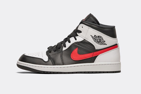 Nike Air Jordan 1 Mid Black Chilli Red White