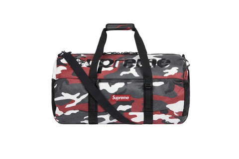 Supreme Red Camouflage Duffel Bag