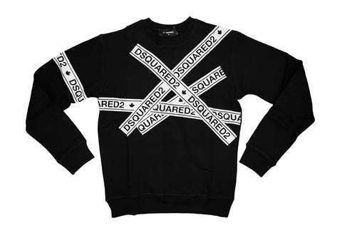 Dsquared2 Logo Tape Print Sweatshirt Black