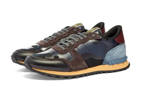 Valentino Rock Runner Marine And Plum Sneaker