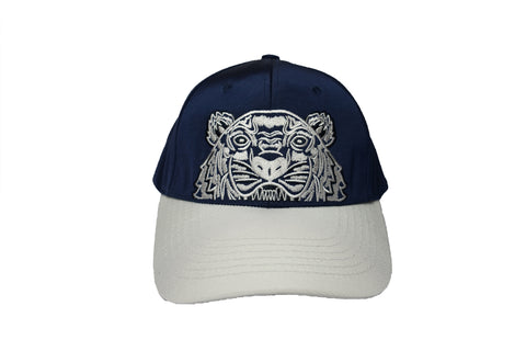 Kenzo Canvas Two Tone Navy and Grey Tiger Cap