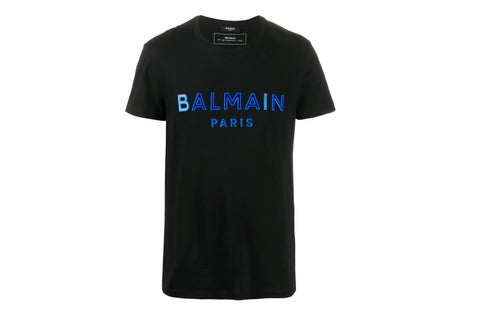 Balmain logo appliqué Black T-shirt