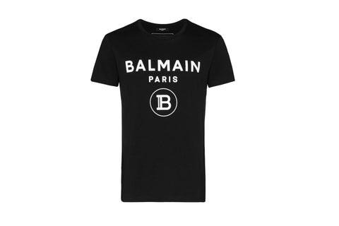 Balmain Paris logo print T-shirt Black