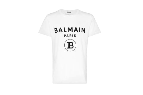 Balmain Paris logo T-shirt White