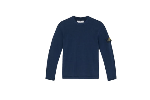 Stone Island Knit Crew Navy Sweater