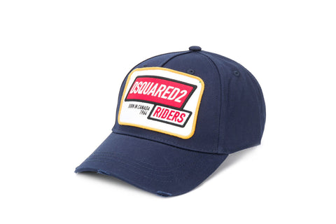 Dsquared2 Navy Riders logo baseball cap