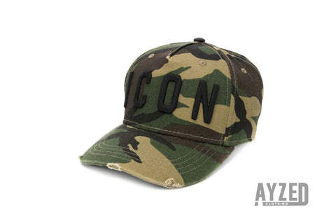 dsquared2 ICON Camouflage Baseball Cap