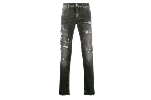 Dolce & Gabbana Black Distressed Jeans