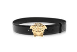 Versace Palazzo Belt With Gold Medusa Head Buckle