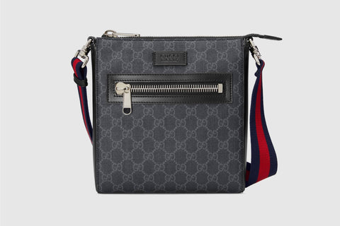 Gucci GG Black Supreme Messenger Bag