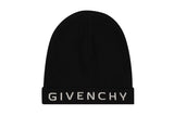 Givenchy Logo Reversible Beanie Hat Blue And Black